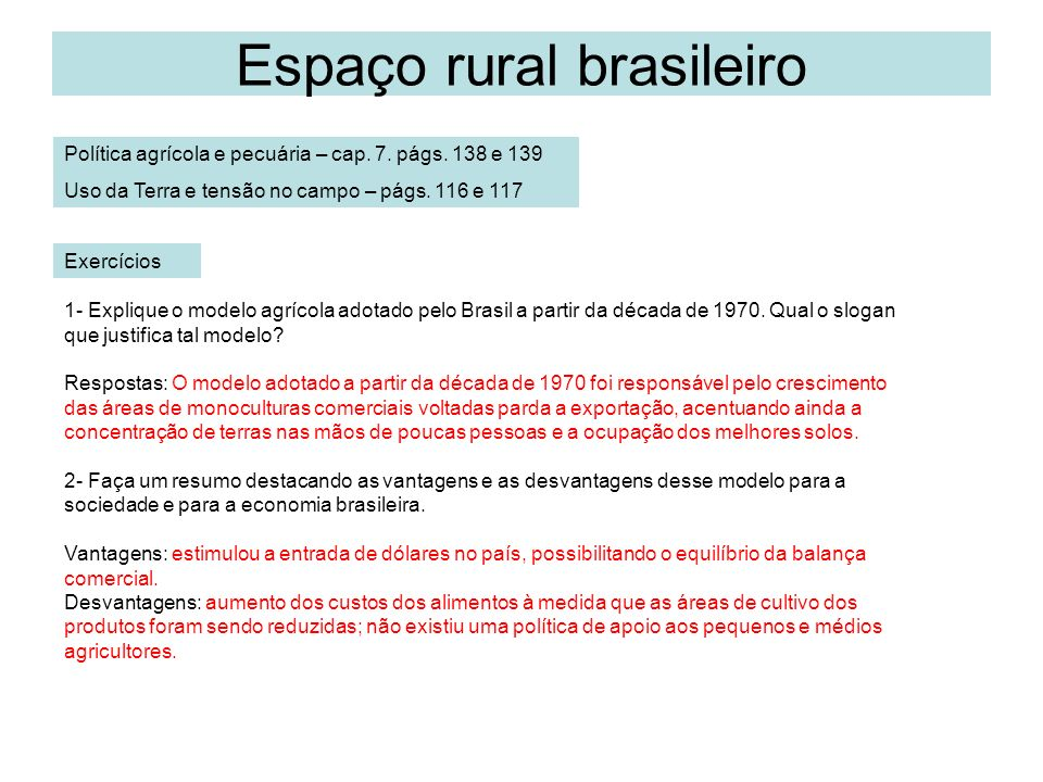 Espaço rural brasileiro