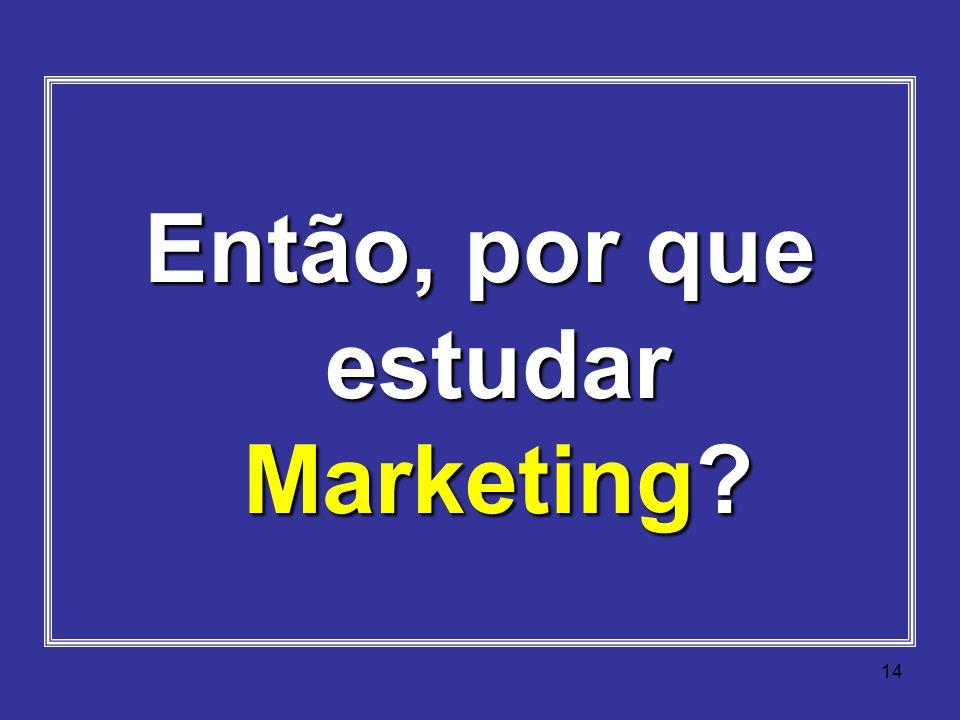 Então, por que estudar Marketing