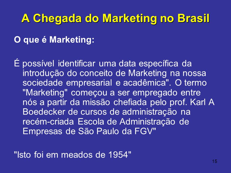 A Chegada do Marketing no Brasil