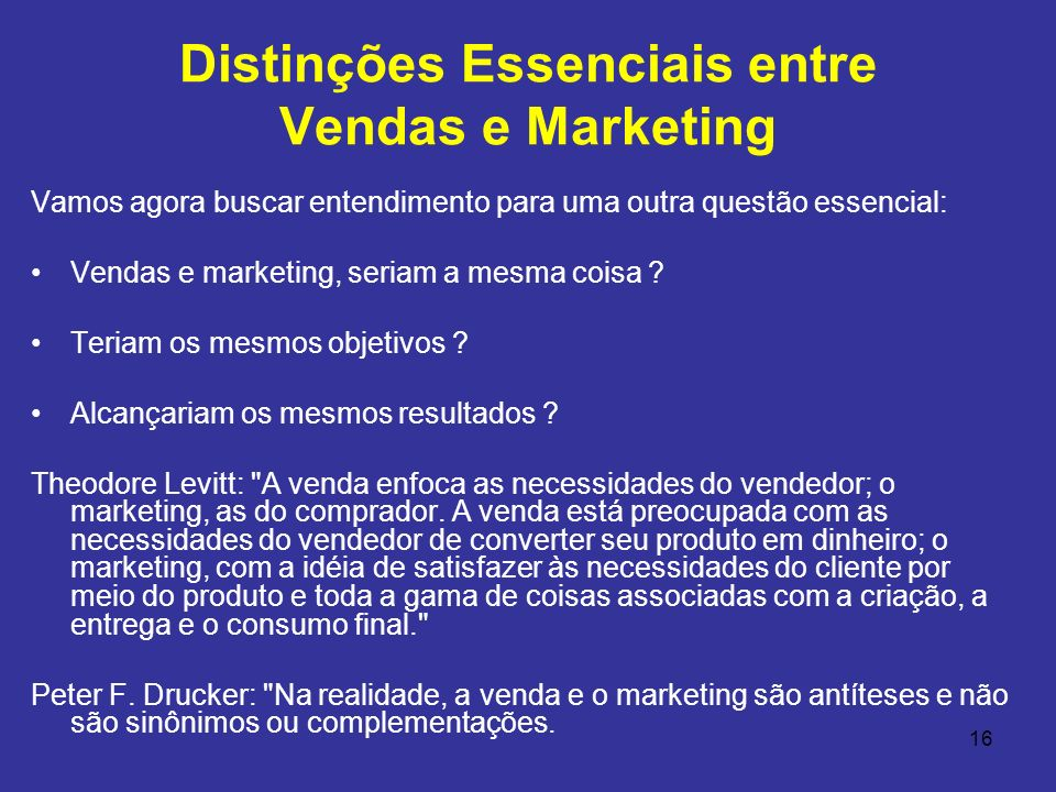 Distinções Essenciais entre Vendas e Marketing