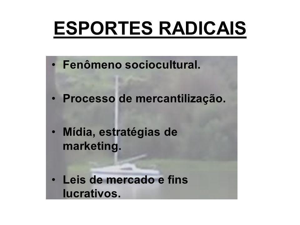 ESPORTES RADICAIS Fenômeno sociocultural. Processo de mercantilização.