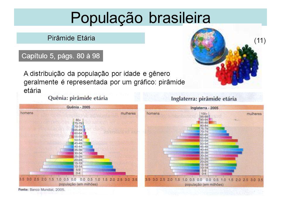 População brasileira Pirâmide Etária (11) Capítulo 5, págs. 80 à 98