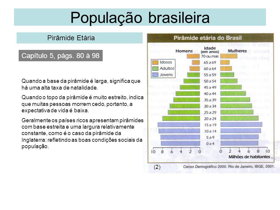 População brasileira Pirâmide Etária Capítulo 5, págs. 80 à 98