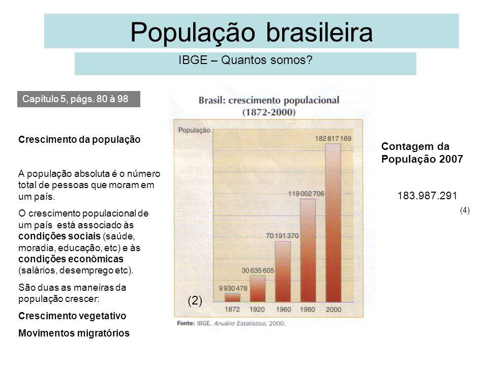 População brasileira IBGE – Quantos somos (2)