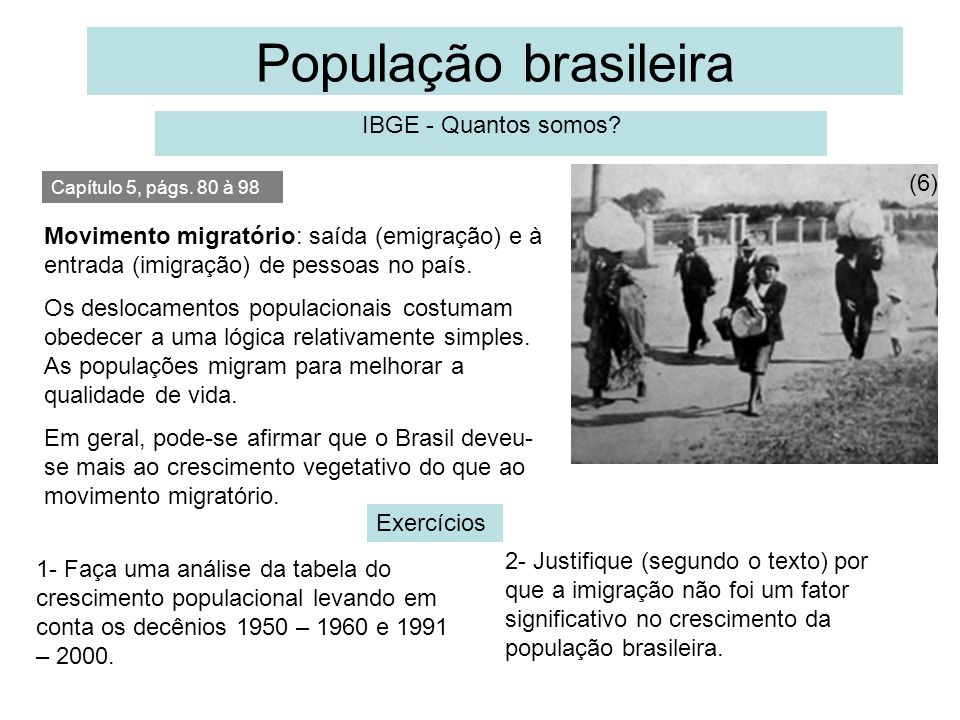 População brasileira IBGE - Quantos somos (6)