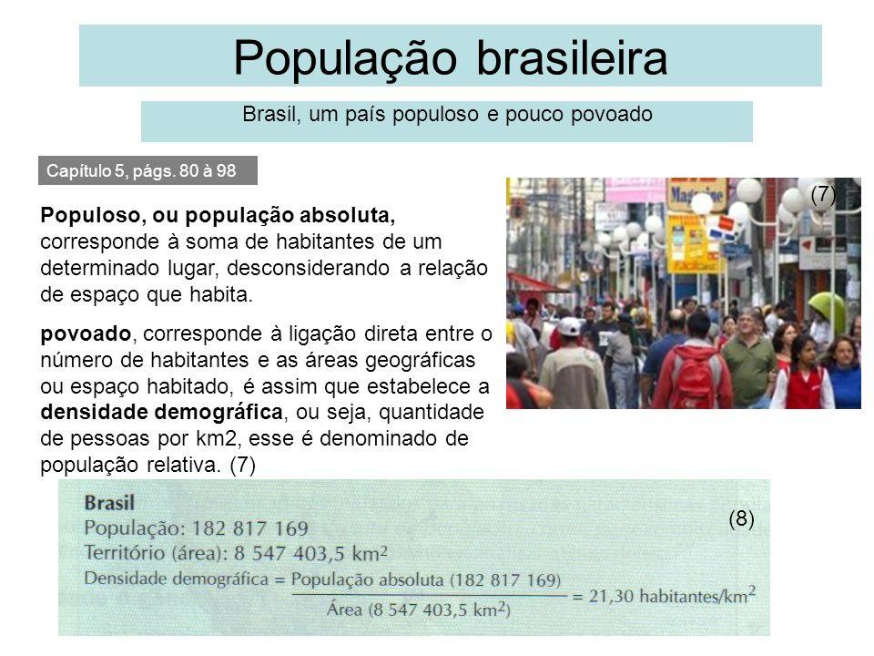 Brasil, um país populoso e pouco povoado