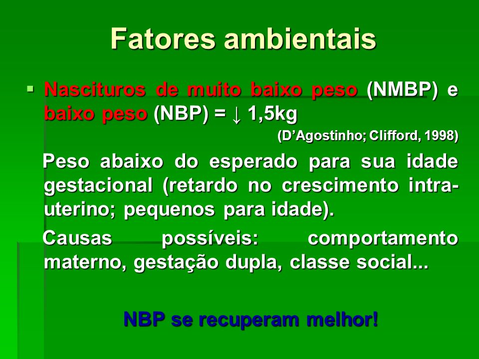 NBP se recuperam melhor!