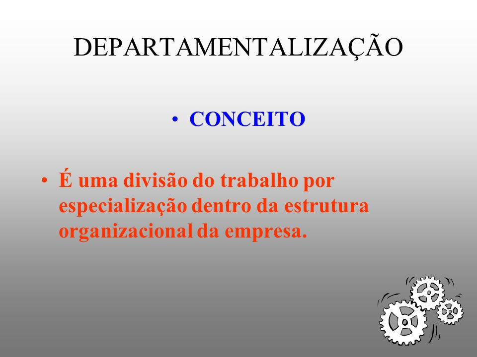 DEPARTAMENTALIZAÇÃO CONCEITO