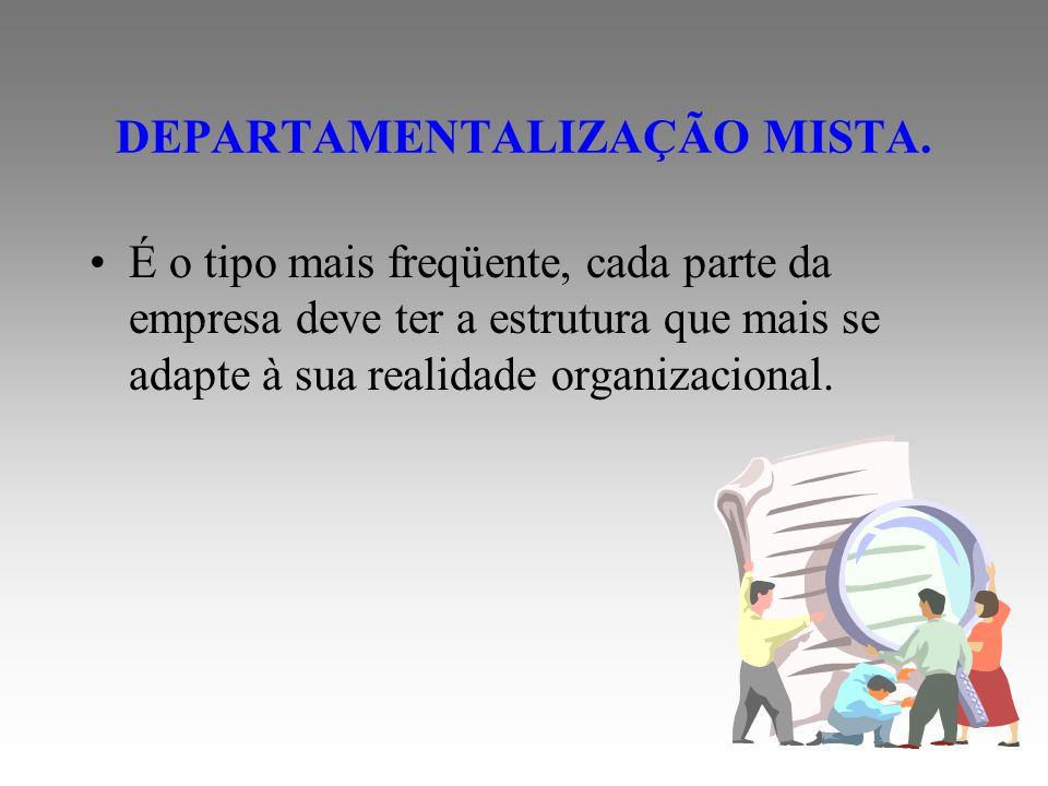 DEPARTAMENTALIZAÇÃO MISTA.