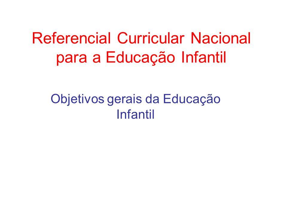 Referencial Curricular Nacional para a Educação Infantil
