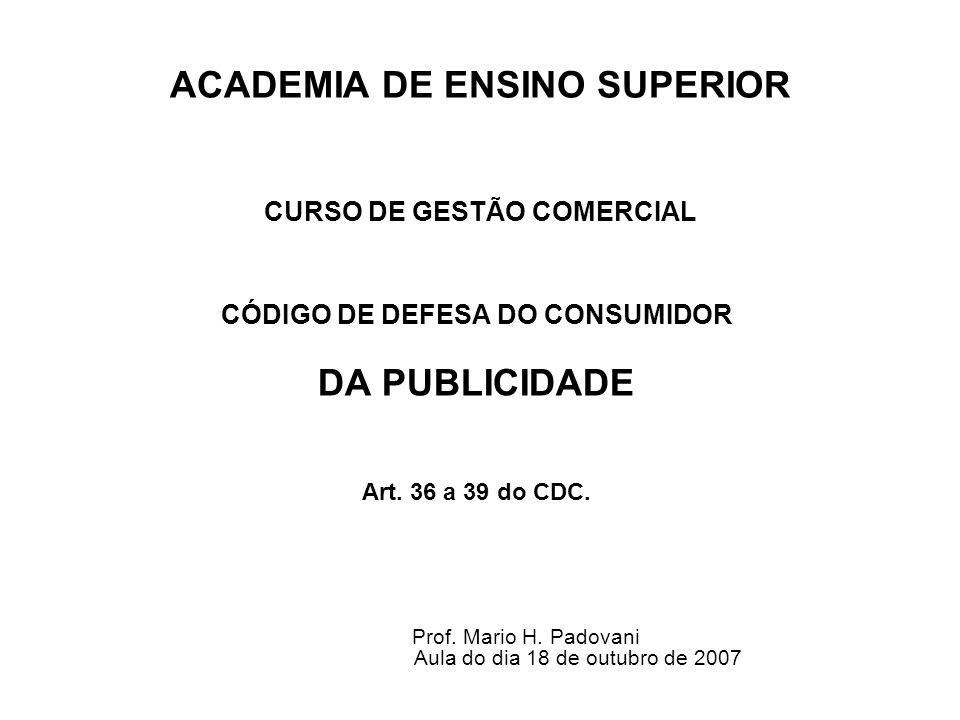 ACADEMIA DE ENSINO SUPERIOR CURSO DE GESTÃO COMERCIAL