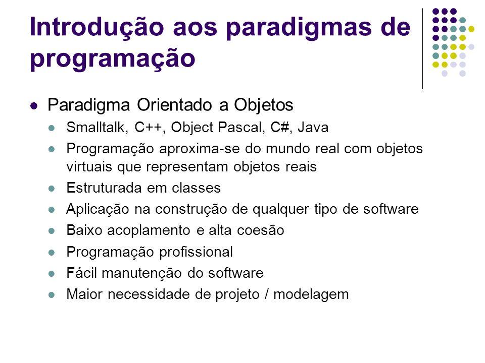 Introdução aos paradigmas de programação