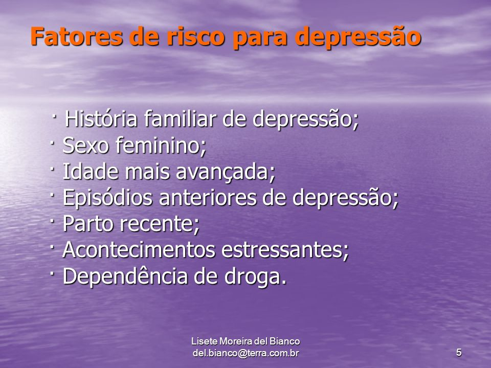 Fatores de risco para depressão
