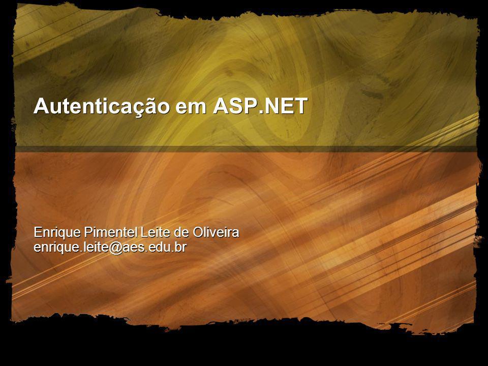 Autenticação em ASP.NET