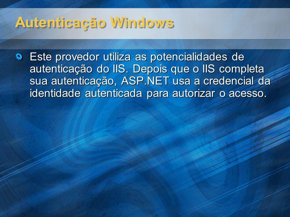 Autenticação Windows