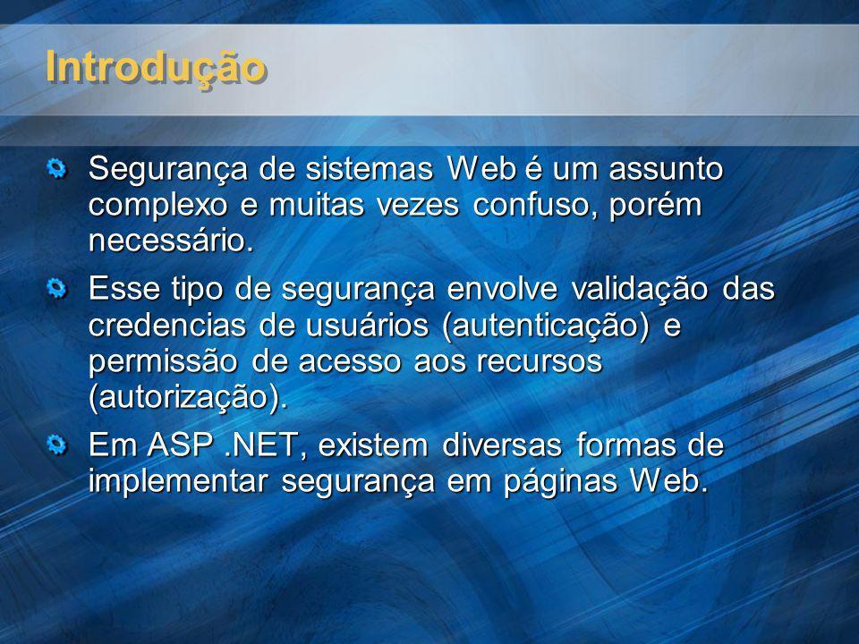 Introdução Segurança de sistemas Web é um assunto complexo e muitas vezes confuso, porém necessário.