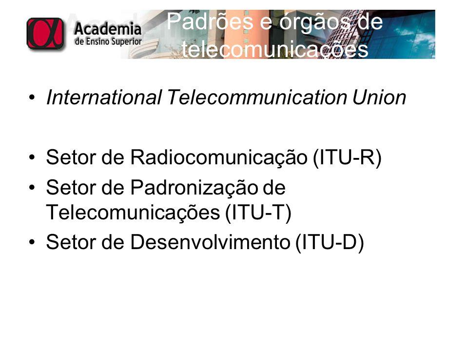 Padrões e órgãos de telecomunicações