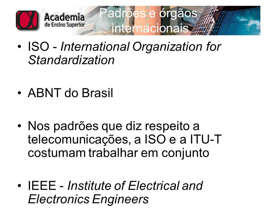 Padrões e órgãos internacionais
