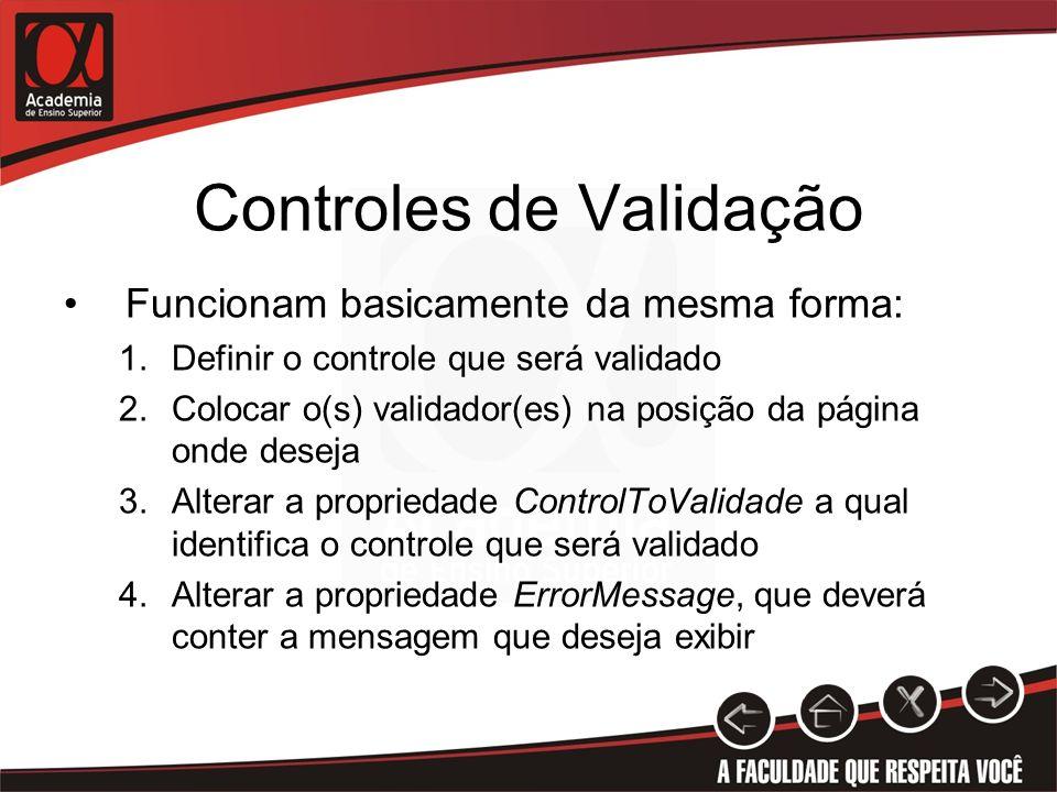 Controles de Validação