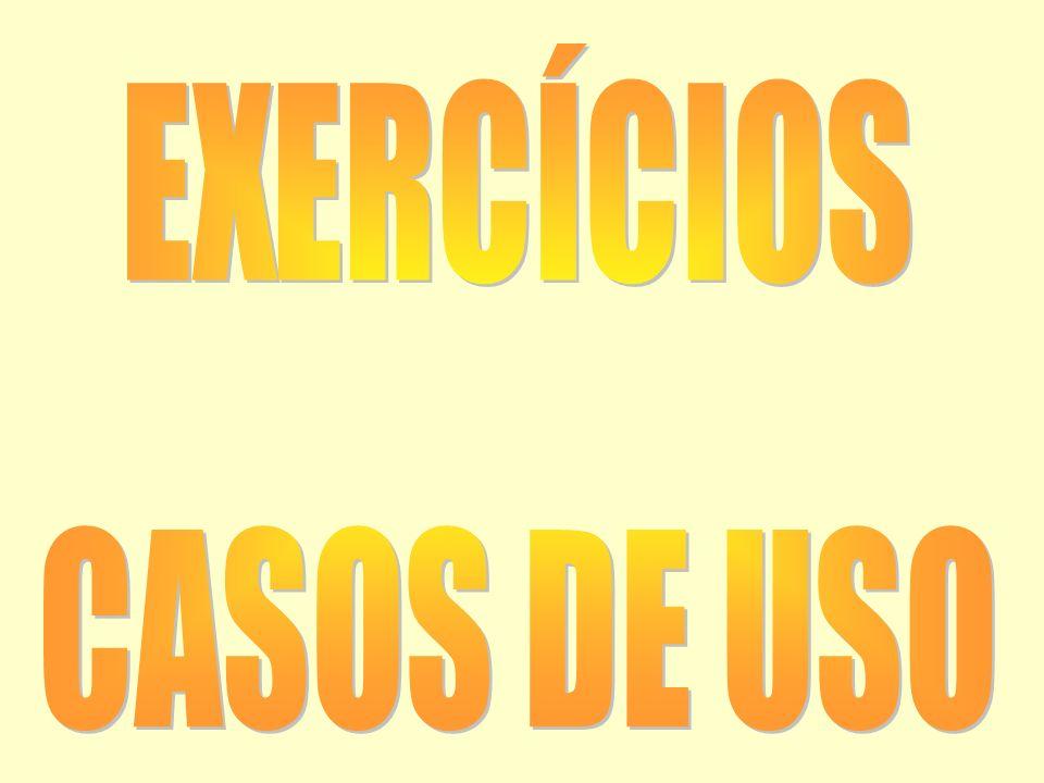 EXERCÍCIOS CASOS DE USO