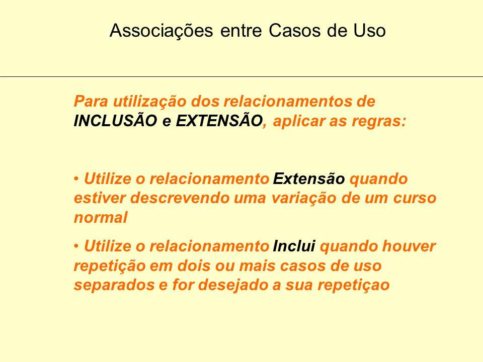 Associações entre Casos de Uso