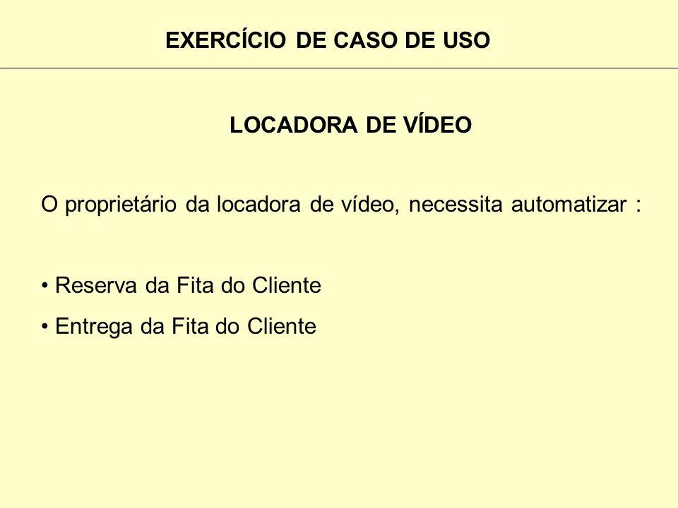 EXERCÍCIO DE CASO DE USO