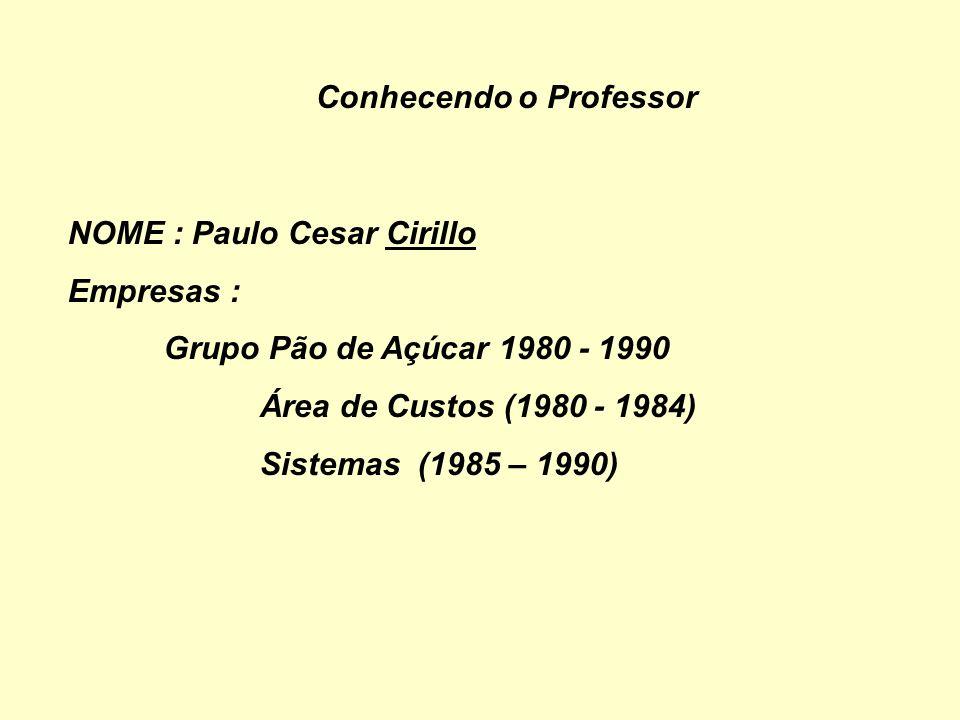 Conhecendo o Professor