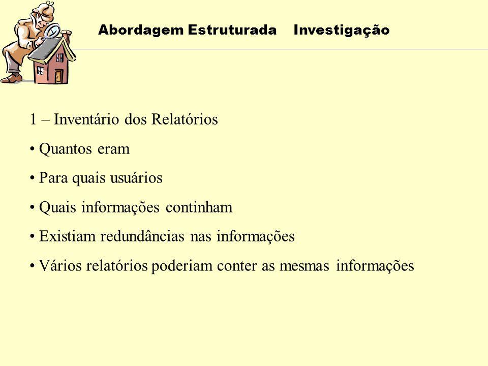 Abordagem Estruturada Investigação