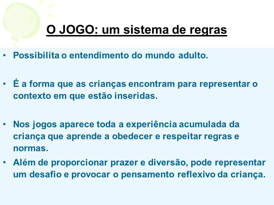 O JOGO: um sistema de regras