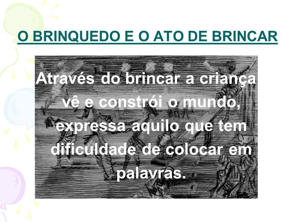O BRINQUEDO E O ATO DE BRINCAR
