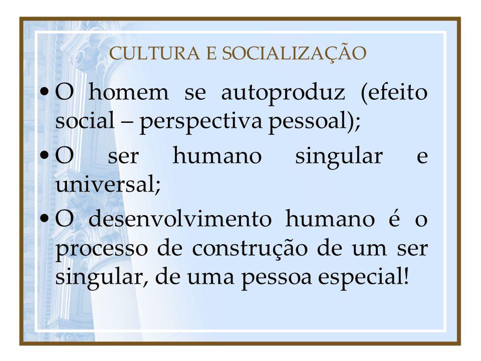 CULTURA E SOCIALIZAÇÃO
