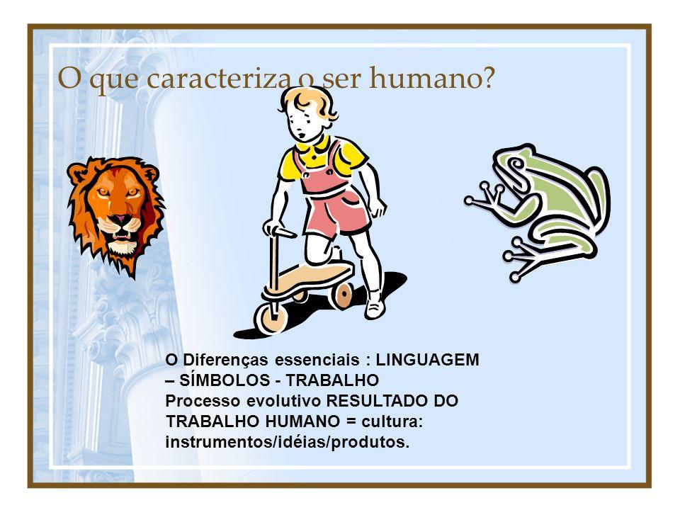 O que caracteriza o ser humano