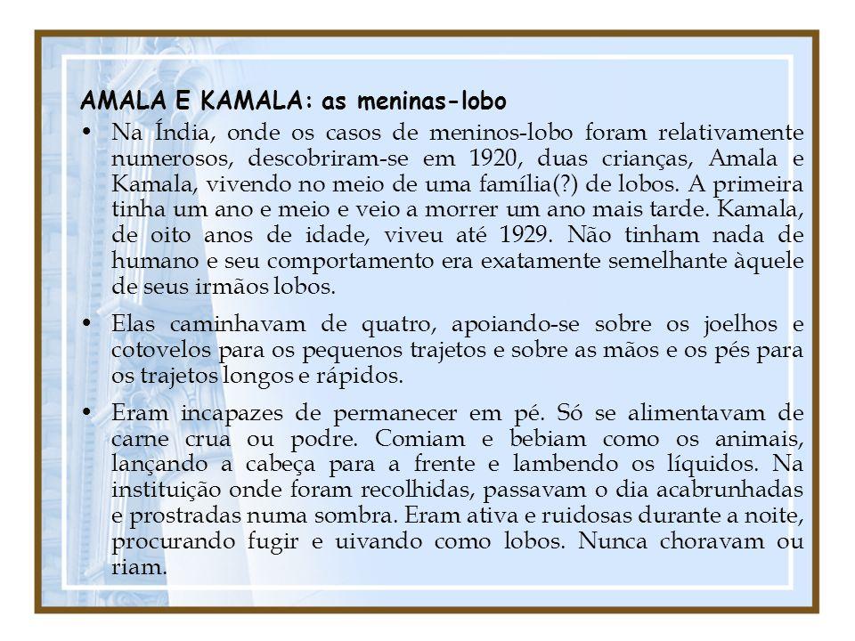 AMALA E KAMALA: as meninas-lobo