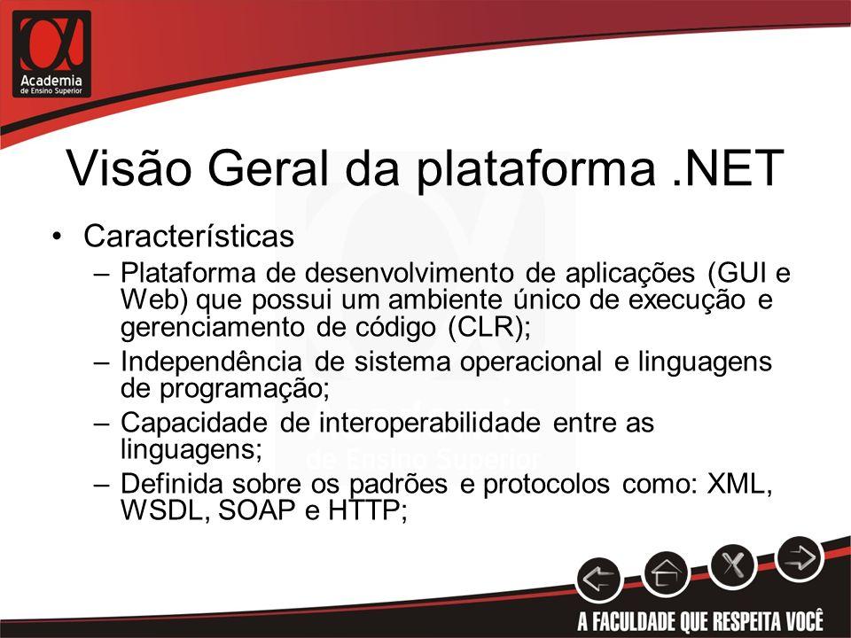 Visão Geral da plataforma .NET