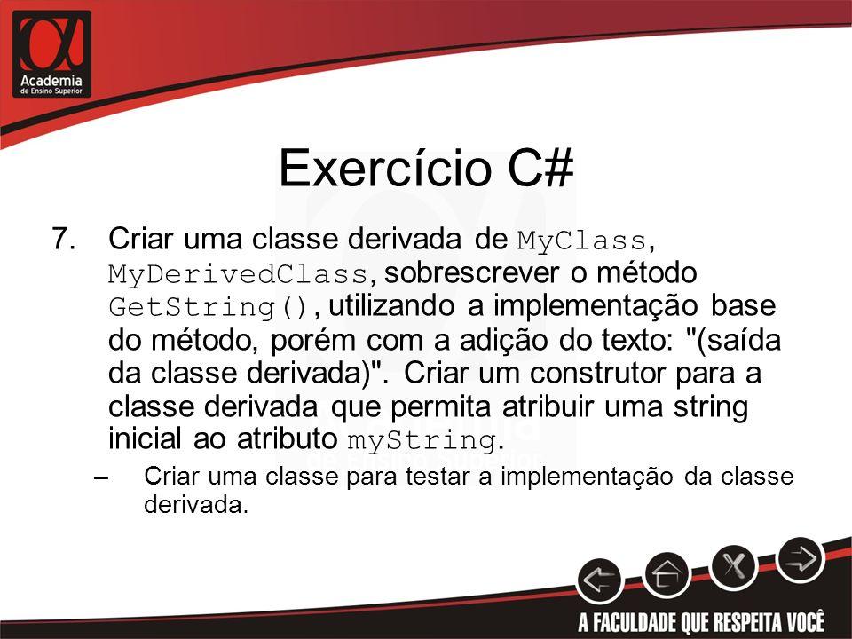 Exercício C#