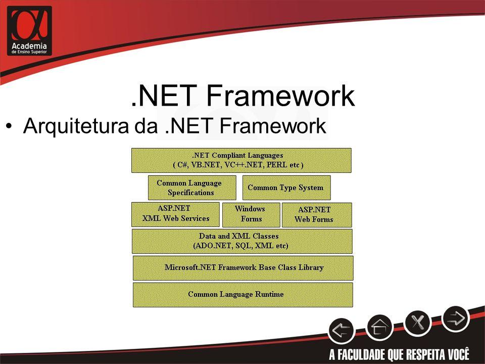 .NET Framework Arquitetura da .NET Framework Anotações: