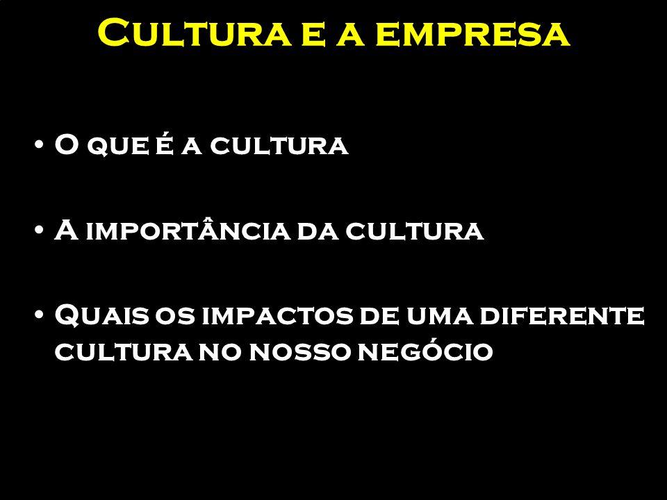 Cultura e a empresa O que é a cultura A importância da cultura
