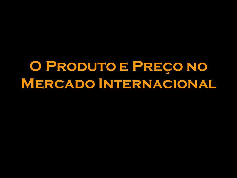 O Produto e Preço no Mercado Internacional