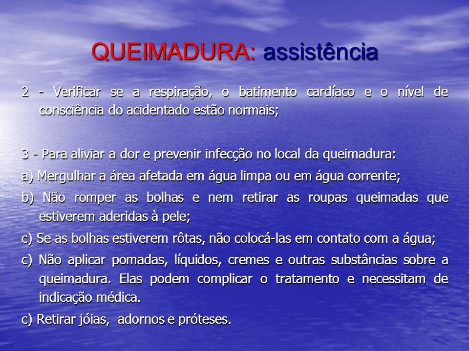 QUEIMADURA: assistência