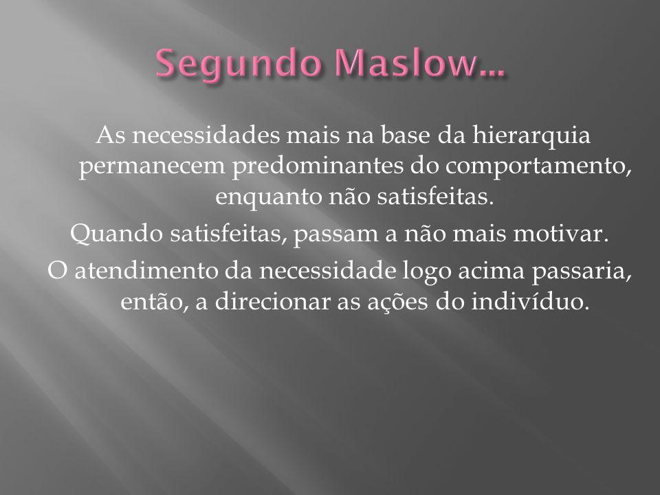 Segundo Maslow...