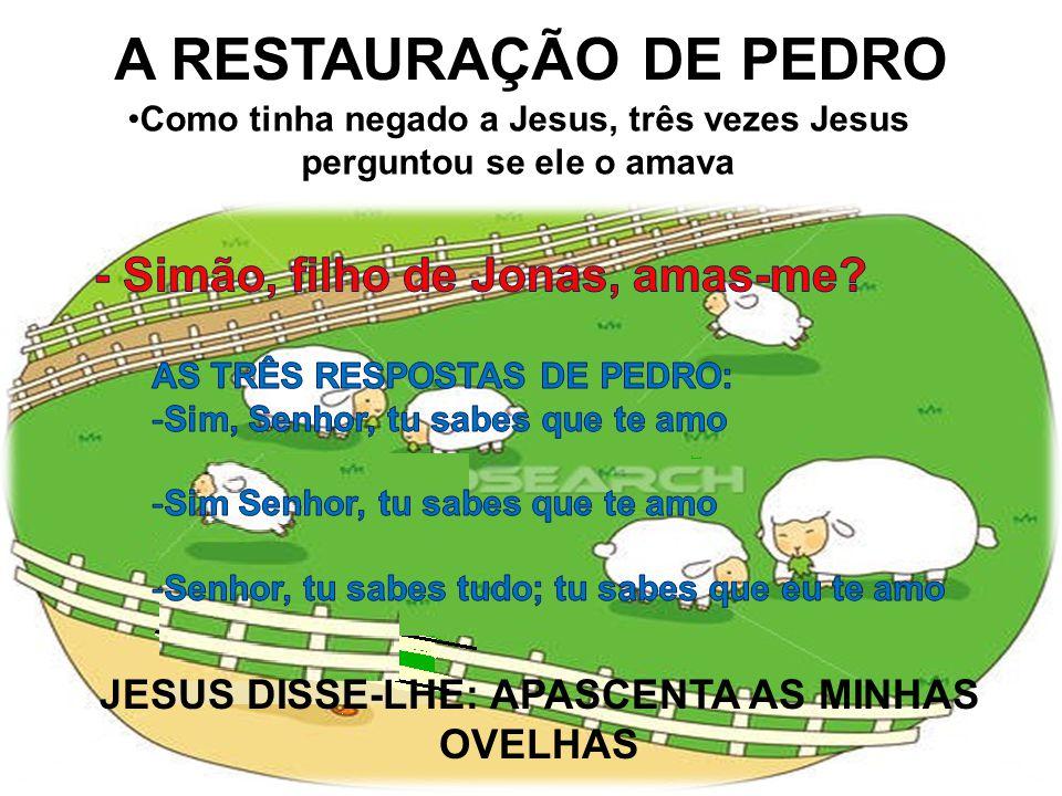 A RESTAURAÇÃO DE PEDRO - Simão, filho de Jonas, amas-me