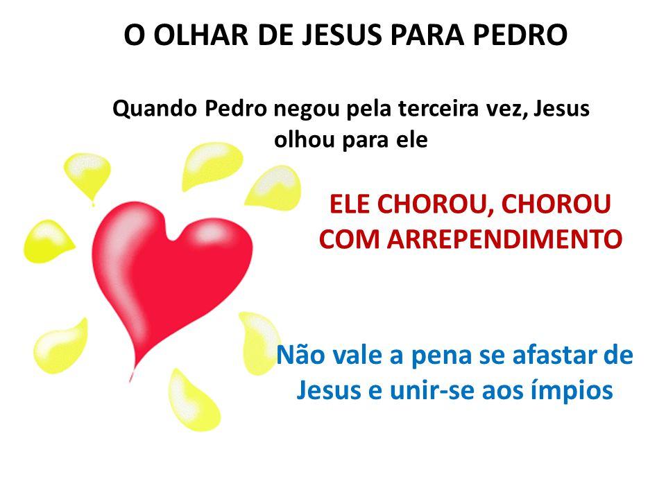 O OLHAR DE JESUS PARA PEDRO