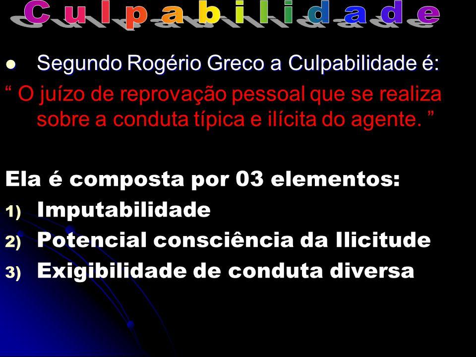 C u l p a b i l i d a d e Segundo Rogério Greco a Culpabilidade é: