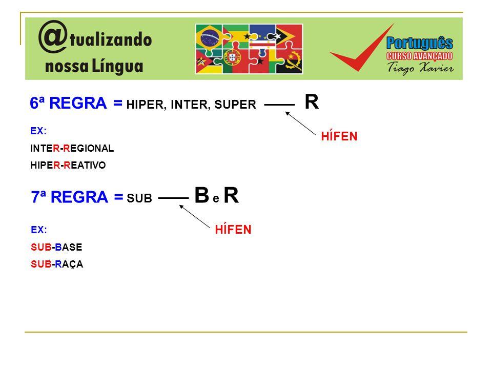 6ª REGRA = HIPER, INTER, SUPER R