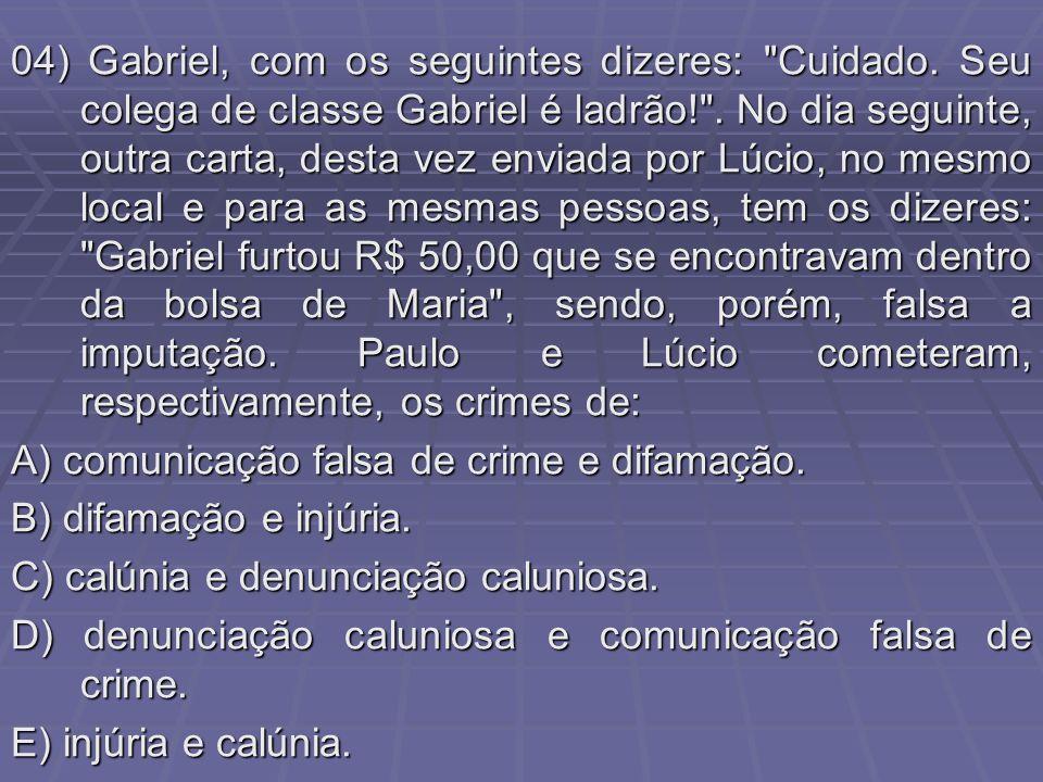 04) Gabriel, com os seguintes dizeres: Cuidado