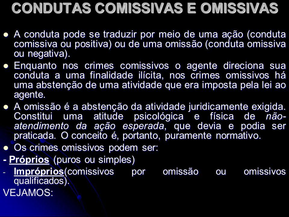 CONDUTAS COMISSIVAS E OMISSIVAS