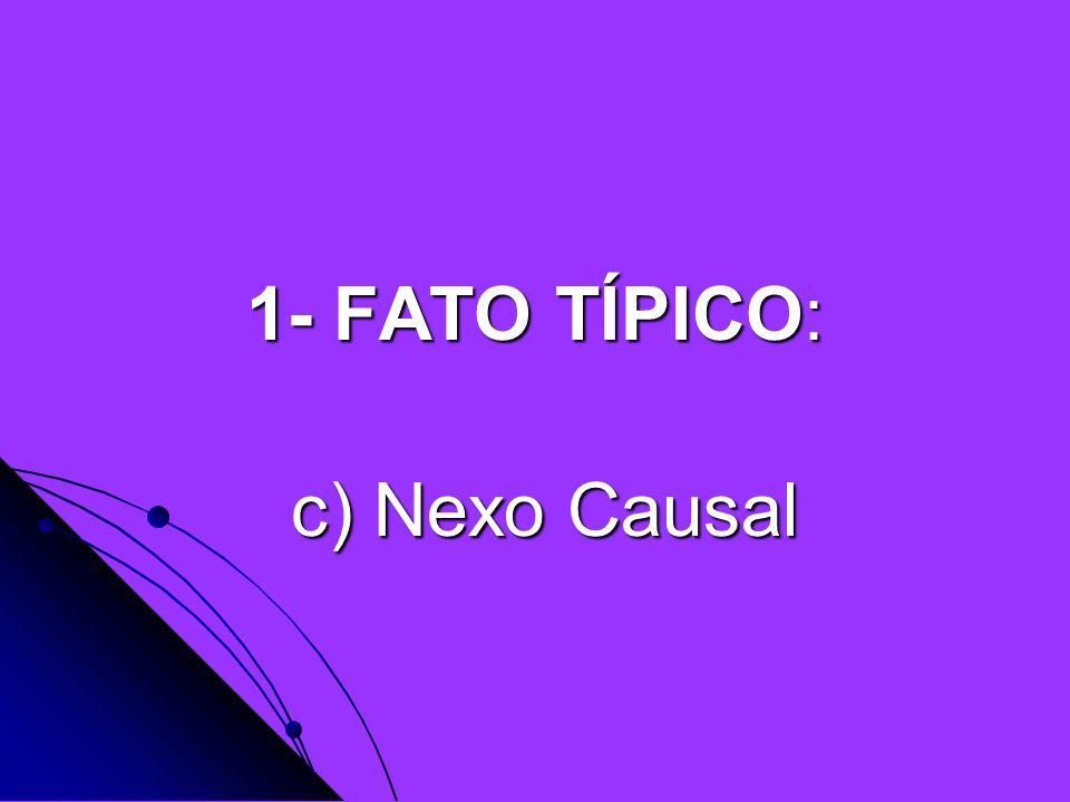 1- FATO TÍPICO: c) Nexo Causal