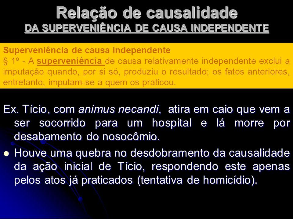 Relação de causalidade DA SUPERVENIÊNCIA DE CAUSA INDEPENDENTE