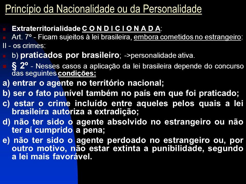 Princípio da Nacionalidade ou da Personalidade