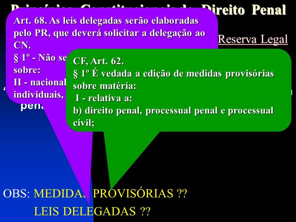Princípios Constitucionais do Direito Penal
